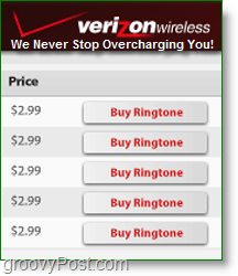 Make your own ringtones -Verizon charges $3 each! Not Groovy