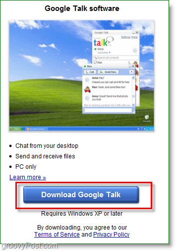 Google Talk screenshot - Download Google Talk