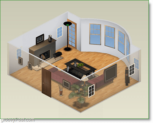 project dragonfly screenshot - a house layout designed in 3d