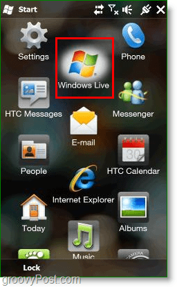 where windows live appears on your windows mobile desktop