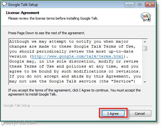Google Talk screenshot - Install Google Talk