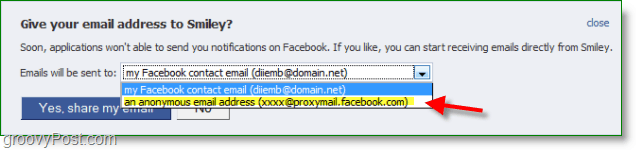 Facebook email spam screenshot - proxy is not th edefault setting