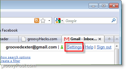 click your google mail settings