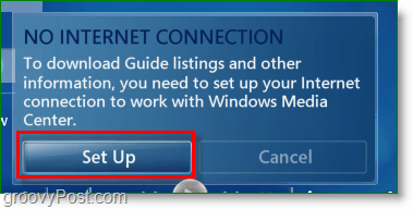 Windows 7 Media Center - set up