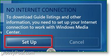Windows 7 Media Center - set up
