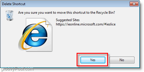 Internet Explorer 8 - confrim deletion