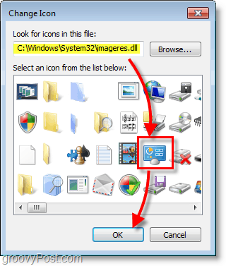 Windows 7 screenshot -how to find windows 7 default icons
