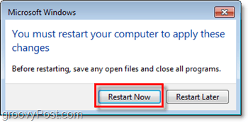 restart the computer to finish turning off internet explorer 8 in windows 7