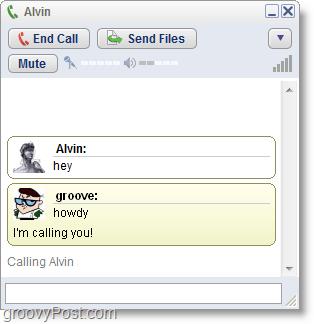 Google Talk screenshot - make phone calls on the computer