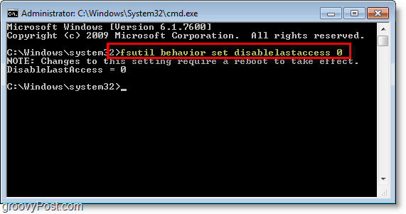 Windows 7 screenshot -using the command prompt line to turn on text with iPad or iPod touch