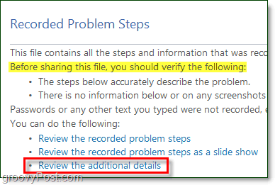additional details and slideshows are available in the windows 7 problem steps recorder