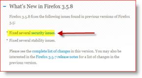 Firefox 3.5.8 Release Log