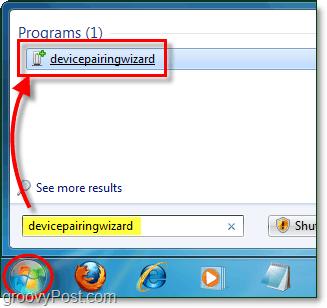 Windows 7 Bluetooth Screenshot - device pairing wizard