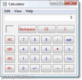 old windows vista calculator