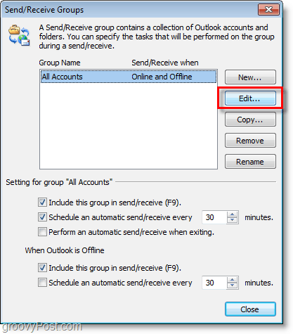 Outlook 2010 Screenshot - edit accounts