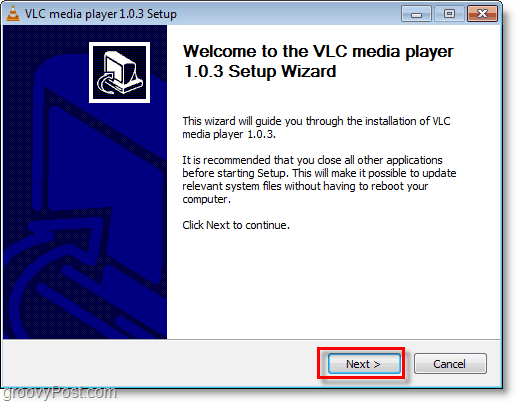 installation of vlc media player is simple