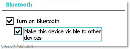 make your bluetooth device discoverable