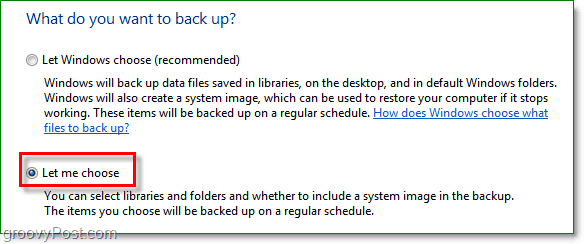 Windows 7 Backup - choose which folders you would like to backup