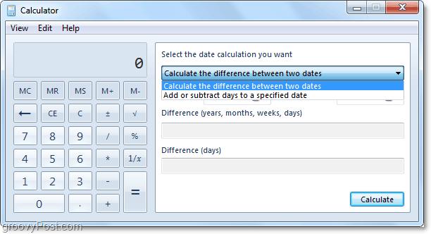 estimating exact dates using windows 7
