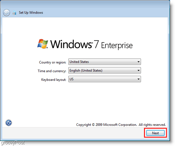 windows 7 enterprise vhd installation and initial setup