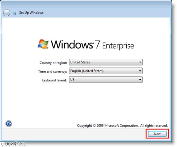 windows 7 enterprise vhd installation and initial setup
