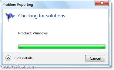 windows 7 will automatically connect and look for issues
