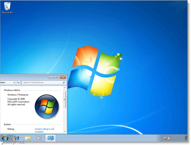 windows 7 enterprise, running as a vhd