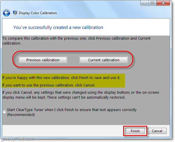 compare your new settings with your old windows 7 color and gama calibration