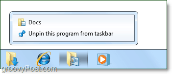 multipled folders pinned to windows 7 taskbar