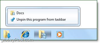 multipled folders pinned to windows 7 taskbar