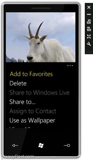 the windows phone 7 screen reacts like a touch screen