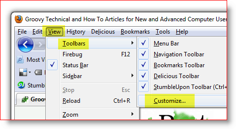 How-to add the add-on icon to firefox toolbar