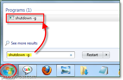 using a shutdown command in windows 7