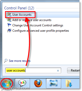 access user accounts in windows 7