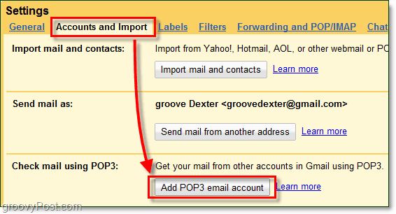import external 3rd party email into gmail without forwarding
