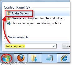 adjust folder options for windows 7
