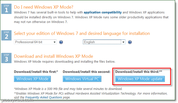 windows xp mode now available without hyper-v or amd-v