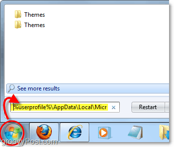 load the theme folder within your appdate and useprofile location in windows 7