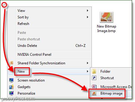 new bitmap image windows 7