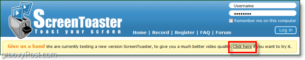 usin the beta of screentoaster for free