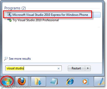 how to launch windows phone emulator in windows 7