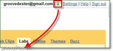 change gmail labs settings
