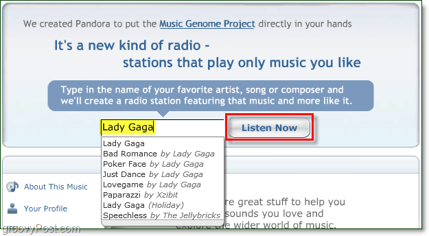 listen to lady gaga for free on pandora.com