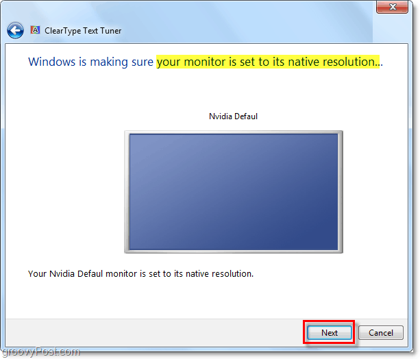 make sure your windows 7 monitor is set to its native resolution