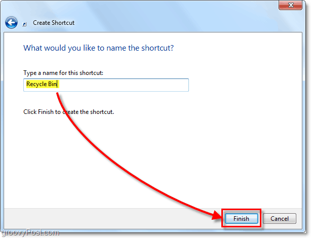 name a shortcut in windows 7