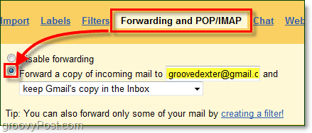 how to set up email to automatically forward