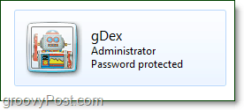 using a new account name with windows 7