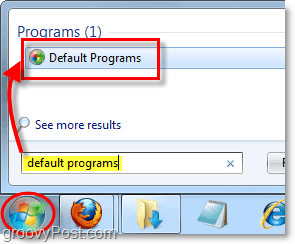 change the default programs use in windows 7