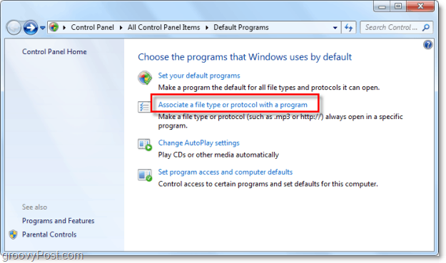changing file associations in windows 7