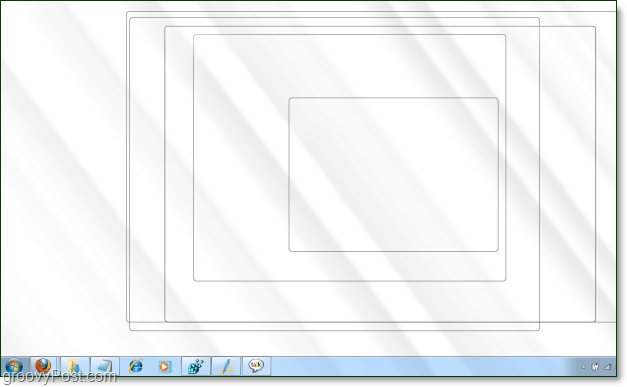 windows 7 aero peek screenshot